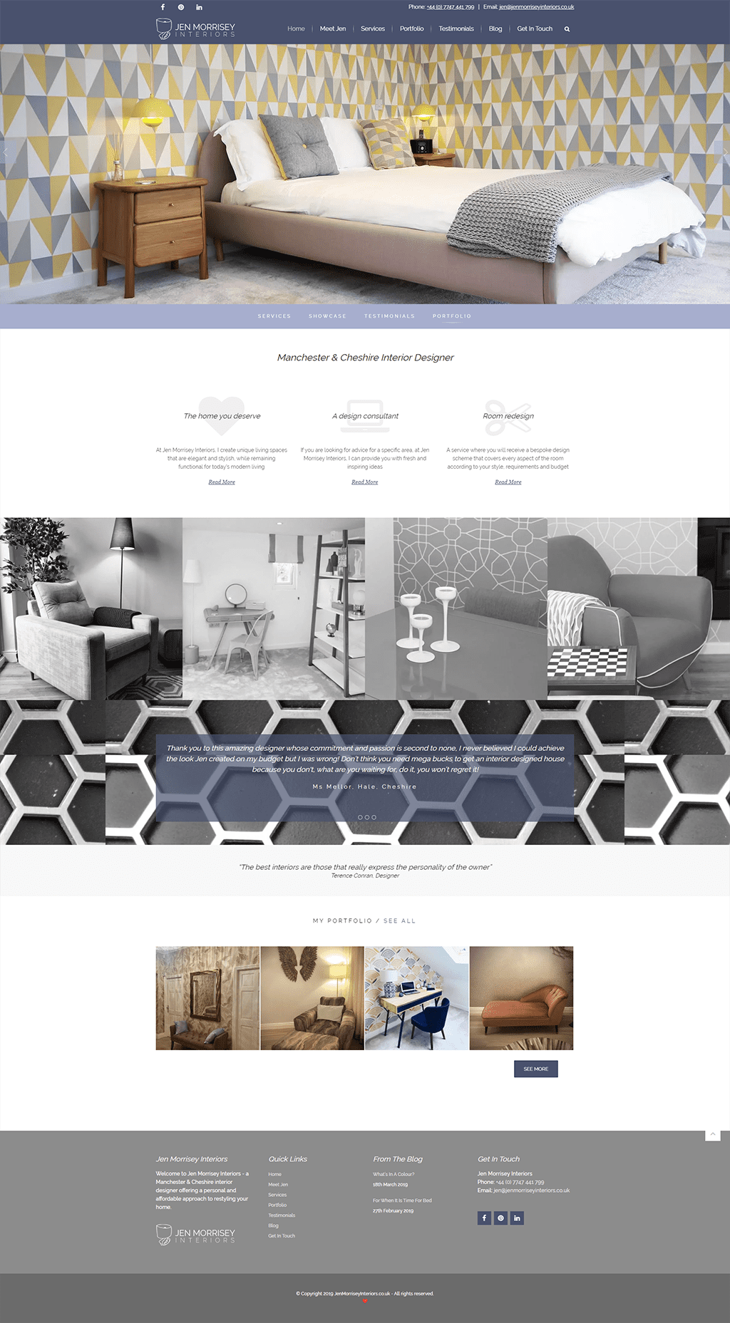 Jen Morrisey Interiors - Homepage